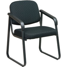 "Deluxe sled base chair, w/ arms, 23""x24""x32"", cabernet, sold as 1 each"
