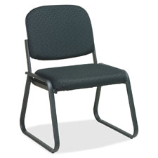 "Deluxe sled base chair, armless, 23'x24""x32"", black, sold as 1 each"