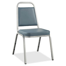 "Stacking chair, 18""x22""x34-1/2"", 4/ct, blue/chrome frame, sold as 1 carton, 4 each per carton"