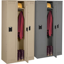 Tennsco Single-Tier 3-Wide Steel Lockers