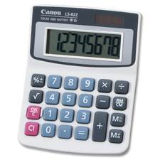 Canon 8-Digit Solar/Battery Handheld Calculator