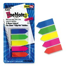 "Write-on arrow flags, plain, 1-3/4""x15/32"", 125/pk, ast neon, sold as 1 package, 30 each per package"
