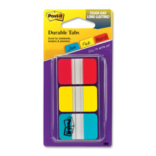 "Post-it tabs, ,1""x1-1/2"", 36 tabs/pk, assorted, sold as 1 package"