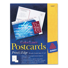 Avery Color Laser Postcards