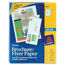 Avery Inkjet Tri-fold Matte Brochures