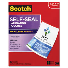 3M Scotch Self-Sealing Laminating Pouches