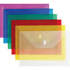 "Poly envelope, side opening, hook/loop,13""x9-3/8"", clear, sold as 1 each"