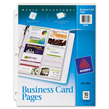 Avery Non-Stick Untabbed Business Card Pages