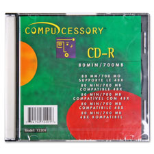Compucessory Branded CD-R w/Writing Area