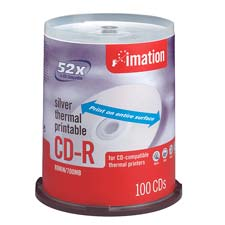 Imation Silver Thermal Printable CDs
