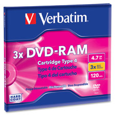 Verbatim Branded Single-Sided Type 2 DVD-Ram Disc