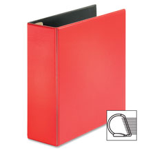 "D-ring binder, 4"" capacity, 11""x8-1/2"", red, sold as 1 each"