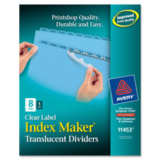 Avery Index Maker Translucent Clear Label Dividers