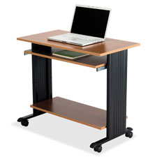 "Safco Fixed Height Workstation - Rectangle x 30.5"" - Steel Wood - Medium Oak"
