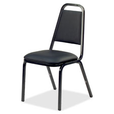 "Stacking chair, 18""x22""x34-1/2"", 4/ct, black/black frame, sold as 1 carton, 4 each per carton"