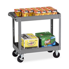 "2-shelf service cart, 30""x16""x32"", medium gray, sold as 1 each"