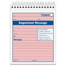 "Phone message booklet, 50 sets, 4-1/4""x5-1/2, sold as 1 each"