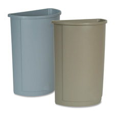 Rubbermaid Half Round Wastebaskets and Lids