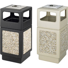 Safco Plastic/Stone Aggregate Receptacles