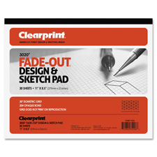 "Grid paper pad, 20lb., 30degree isometric,11""x8-1/2"",30 sht, sold as 1 pad, 50 sheet per pad"