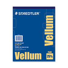 "Vellum pad, 16 lb., 50 sheets, 8-1/2""x11, sold as 1 pad"
