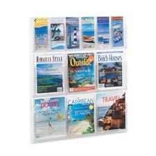 Safco Magazine/Pamphlet Plastic Display Rack