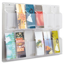 Safco 12 Pamphlet Pocket Display Rack