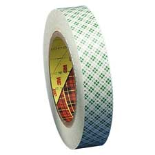 "Double-coated tape, 3"" core, 1""x36 yards, clear, sold as 1 roll"