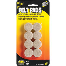 Round felt pads, assorted sizes combo, 25/pk, beige, sold as 1 package, 16 pad per package
