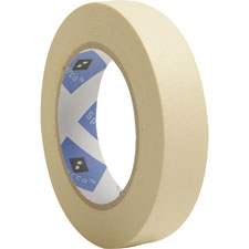 "Economy masking tape, 3"" core, 1""x60 yds, natural kraft, sold as 1 roll"