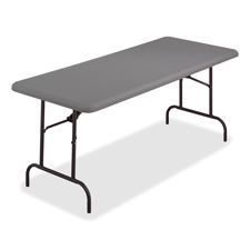 "Iceberg IndestrucTable TOO Folding Table - Rectangle - 96"" x 30"" x 29"" - Steel Polyethylene -"