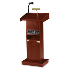 "Oklahoma Sound Orator Standard Height Lectern - Rectangle - 17"" x 22"" x 42"" - Mahogany"