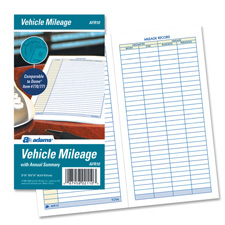 "Vehicle mileage log book, 64 pages, 3-1/4""x6-1/4"", white, sold as 1 each, 6 pad per each"