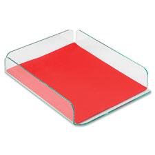 Deflect-O Glasstique Letter Size Desk Tray