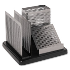 Rolodex Distinctions Wood/Pnch Mtl Desk Organizer