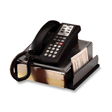 Rolodex Distinctions Wood/Pnch Metal Phone Stand