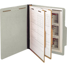 SJ Paper Recycled 2-Divider Classification Folders