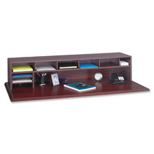 Safco Low-Profile Wood Desktop Organizers