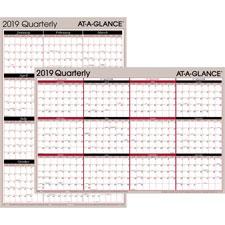 At-A-Glance Erasable Quarterly Wall Calendar
