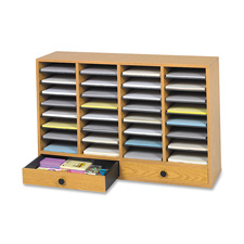 "Safco 32 Compartments Adjustable Literature Organizer - 25.37"" 2.75"" x 39"" 17.5"" x 11.75"" 10.5"""