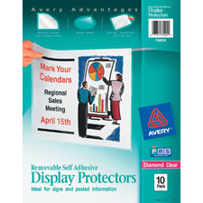 Avery Removable Self-Adhesive Display Protectors