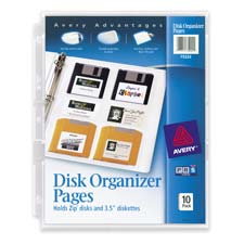 Avery Diskette Organizer Pages