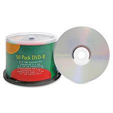 Dvd-r, 4.7gb, 16x, branded, 50/pk, sold as 1 package