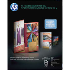 "HP Tri-Fold Brochure Paper,Matte,8-1/2""x11"",48Lb,100 Sheets,WE at Sears.com"