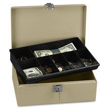 PM Company Securit Lock N' Latch Steel Cash Box