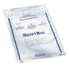 "Disposable money bag, plastic, 12""x16"", 100/pk, clear, sold as 1 package, 100 each per package"