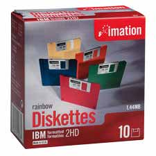 Imation 3-1/2 Formatted Color Diskettes