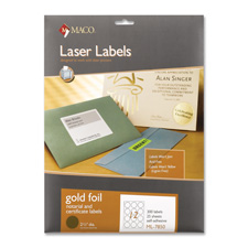 "Laser foil seals, 2-1/2"" diameter, 300/pk, gold, sold as 1 package, 400 each per package"
