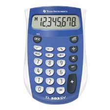 Texas Inst. 8-Digit Handheld Pocket Calculator