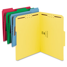 Smead Colored Top Tab Folders With Fasteners
